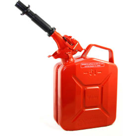 wavian jerry can w/spout & spout adapter, red, 5 liter/1.32 gallon capacity - 3015 Wavian Jerry Can w/Spout & Spout Adapter, Red, 5 Liter/1.32 Gallon Capacity - 3015