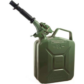 wavian jerry can w/spout & spout adapter, green, 5 liter/1.32 gallon capacity - 3016 Wavian Jerry Can w/Spout & Spout Adapter, Green, 5 Liter/1.32 Gallon Capacity - 3016