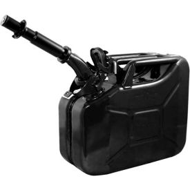 wavian jerry can w/spout & spout adapter, black, 10 liter/2.64 gallon capacity - 3024 Wavian Jerry Can w/Spout & Spout Adapter, Black, 10 Liter/2.64 Gallon Capacity - 3024