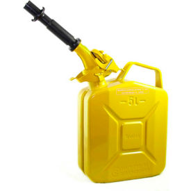 wavian jerry can w/spout & spout adapter, yellow, 5 liter/1.32 gallon capacity - 3026 Wavian Jerry Can w/Spout & Spout Adapter, Yellow, 5 Liter/1.32 Gallon Capacity - 3026