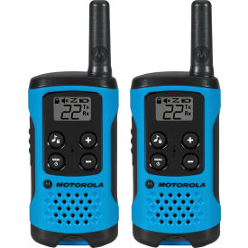 T100 Motorola Talkabout; T100 Two-Way Radios, Neon Blue - 2 Pack
