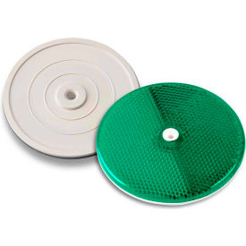 "102230 Tapco; 102230 3-1/4"" Green Centermount Reflector, Plastic Backplate, RT-90G"