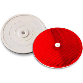 "102232 Tapco; 102232 3-1/4"" Red Centermount Reflector, Plastic Backplate, RT-90R"
