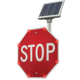 "2180-00208 blinkerstop® flashing led stop sign r1-1, 36""w, solar 2180-00208 BlinkerStop® Flashing LED STOP Sign R1-1, 36""W, Solar"