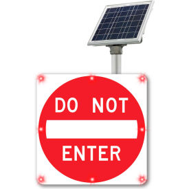 "2180-c00067 blinkersign® flashing led do not enter sign r5-1, 30""w, red, solar 2180-C00067 BlinkerSign® Flashing LED Do Not Enter Sign R5-1, 30""W, Red, Solar"