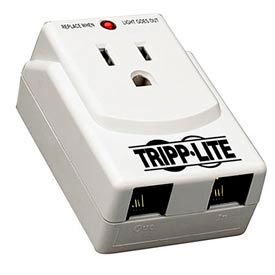 tripp lite travelcube traveler surge protector/suppressor, 1 outlet, direct plug-in, 540 joules Tripp Lite TRAVELCUBE Traveler Surge Protector/Suppressor, 1 Outlet, Direct Plug-In, 540 Joules