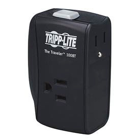 tripp lite traveler100bt traveler surge protector/suppressor, 2 outlets for ethernet, 1050 joules Tripp Lite TRAVELER100BT Traveler Surge Protector/Suppressor, 2 Outlets For Ethernet, 1050 Joules