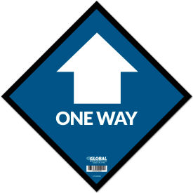 "global industrial™ blue one way adhesive sign, 12"" square, vinyl Global Industrial™ Blue One Way Adhesive Sign, 12"" Square, Vinyl"