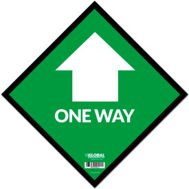 "global industrial™ green one way adhesive sign, 12"" square, vinyl Global Industrial™ Green One Way Adhesive Sign, 12"" Square, Vinyl"
