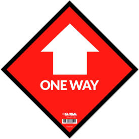 "global industrial™ red one way adhesive sign, 12"" square, vinyl Global Industrial™ Red One Way Adhesive Sign, 12"" Square, Vinyl"