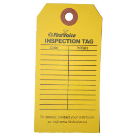 first voice™ eid inspection tag, 10/pack First Voice™ EID Inspection Tag, 10/Pack