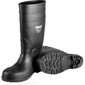 31151.06 Tingley; 31151 Economy PVC Knee Boots, Black, Plain Toe, Cleated Outsole, Size 6
