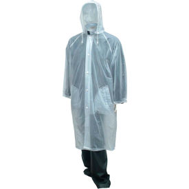 "C61210.MD Tingley; C61210 Tuff-Enuff; Coat, Clear, 48"", Detachable Hood, Medium"