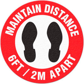"maintain distance 6ft apart, adhesive floor sign, 17"" round Maintain Distance 6ft Apart, Adhesive Floor Sign, 17"" Round"