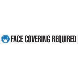 "incom face covering required floor sign, 3"" x 24"", 5 pack, adhesive vynmark Incom Face Covering Required Floor Sign, 3"" X 24"", 5 Pack, Adhesive Vynmark"