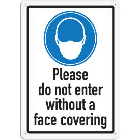 "incom please do not enter without face covering sign, vinyl, 10""x14"", adhesive vynmark Incom Please Do Not Enter Without Face Covering Sign, Vinyl, 10""x14"", Adhesive VynMark"