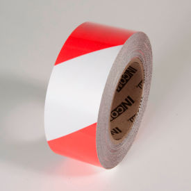 "TM1202RW Tuff Mark Tape, Red/White, 2""W x 100L Roll, TM1202RW"