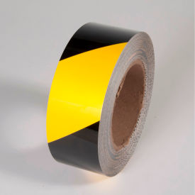 "TM1204YB Tuff Mark Tape, Yellow/Black, 4""W x 100L Roll, TM1204YB"