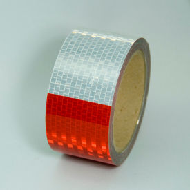 "V57203SR Conspicuity DOT-C2 Reflective Tape, Red/White, 2""W x 30L Roll, V57203SR"