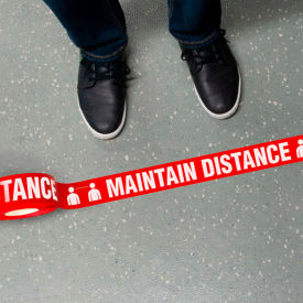 maintain distance message floor tape, 2.25 x 54 Maintain Distance Message Floor Tape, 2.25 X 54
