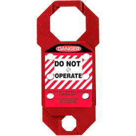 accuform kdh731 stopout® double-cross aluma-tag™ hasp, danger label, aluminum Accuform KDH731 Stopout® Double-Cross Aluma-Tag™ Hasp, Danger Label, Aluminum