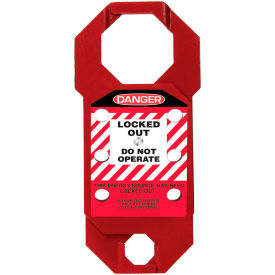 accuform kdh733 stopout® double-cross aluma-tag™ hasp, danger label, aluminum Accuform KDH733 Stopout® Double-Cross Aluma-Tag™ Hasp, Danger Label, Aluminum