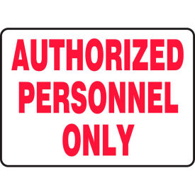 "accuform madm499vp authorized personnel only sign, 14""w x 10""h, plastic Accuform MADM499VP Authorized Personnel Only Sign, 14""W x 10""H, Plastic"