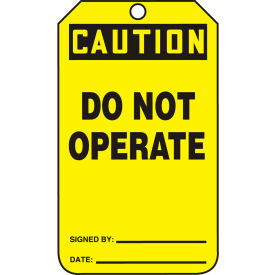 accuform mdt621ctp caution do not operate tag, pf-cardstock, 25/pack Accuform MDT621CTP Caution Do Not Operate Tag, PF-Cardstock, 25/Pack