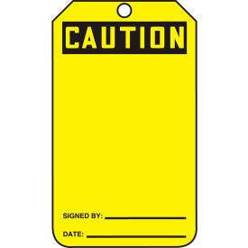 accuform mdt623ptp caution tag, caution, pf-cardstock, 25/pack Accuform MDT623PTP Caution Tag, Caution, PF-Cardstock, 25/Pack