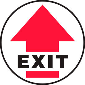 "accuform mfs1717 exit w/ arrow floor sign,17"" diameter, adhesive vinyl, 1/each Accuform MFS1717 Exit w/ Arrow Floor Sign,17"" Diameter, Adhesive Vinyl, 1/Each"
