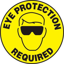 "accuform mfs200 eye protection required floor sign, 17"" diameter, adhesive vinyl, 1/each Accuform MFS200 Eye Protection Required Floor Sign, 17"" Diameter, Adhesive Vinyl, 1/Each"