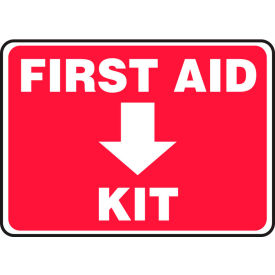 "accuform mfsd506va first aid kit sign, 10""w x 7""h, aluminum Accuform MFSD506VA First Aid Kit Sign, 10""W x 7""H, Aluminum"
