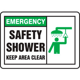 "accuform mfsd931vp emergency sign, safety shower (graphic), 10""w x 7""h, plastic Accuform MFSD931VP Emergency Sign, Safety Shower (Graphic), 10""W x 7""H, Plastic"