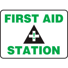 "accuform mfsd960vs first aid station sign, 14""w x 10""h, adhesive vinyl Accuform MFSD960VS First Aid Station Sign, 14""W x 10""H, Adhesive Vinyl"