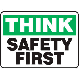 "accuform mgnf940vs think sign, safety first, 14""w x 10""h, adhesive vinyl Accuform MGNF940VS Think Sign, Safety First, 14""W x 10""H, Adhesive Vinyl"
