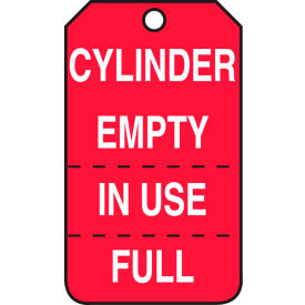 accuform mgt206ptp cylinder empty in use full tag, pf-cardstock, 25/pack Accuform MGT206PTP Cylinder Empty In Use Full Tag, PF-Cardstock, 25/Pack