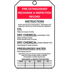 accuform mgt208ptp fire extinguisher recharge & inspection tag, rp-plastic, 25/pack Accuform MGT208PTP Fire Extinguisher Recharge & Inspection Tag, RP-Plastic, 25/Pack
