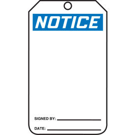 accuform mnt101ptp safety tag, notice, rp-plastic, 25/pack Accuform MNT101PTP Safety Tag, Notice, RP-Plastic, 25/Pack