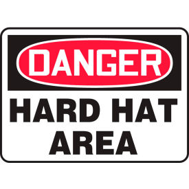 "accuform mppa005vs danger sign, hard hat area, 14""w x 10""h, adhesive vinyl Accuform MPPA005VS Danger Sign, Hard Hat Area, 14""W x 10""H, Adhesive Vinyl"