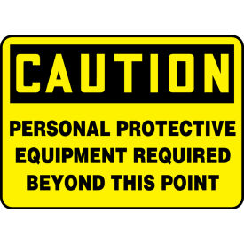 "accuform mppa656vp caution sign, personal protective equipment required..., 14""w x 10""h, plastic Accuform MPPA656VP Caution Sign, Personal Protective Equipment Required..., 14""W x 10""H, Plastic"