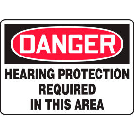 "accuform mppe218va danger sign, hearing protection required in this area, 14""w x 10""h, aluminum Accuform MPPE218VA Danger Sign, Hearing Protection Required In This Area, 14""W x 10""H, Aluminum"