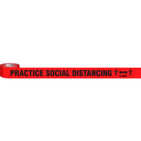 "accuform® practice social distancing barricade tape, 3"" x 1000-ft, plastic Accuform® Practice Social Distancing Barricade Tape, 3"" x 1000-ft, Plastic"