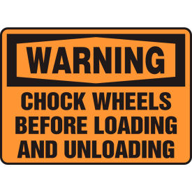 "accuform mtkc302va warning sign, chock wheels before loading and unloading, 10""w x 7""h, aluminum Accuform MTKC302VA Warning Sign, Chock Wheels Before Loading And Unloading, 10""W x 7""H, Aluminum"