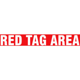 "accuform ptp183 floor stripe™ - red tag area - 3"" x 12"" Accuform PTP183 Floor Stripe™ - Red Tag Area - 3"" x 12"""