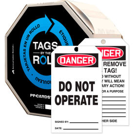 accuform tar121 danger do not operate tag, rp-plastic, 250/roll Accuform TAR121 Danger Do Not Operate Tag, RP-Plastic, 250/Roll
