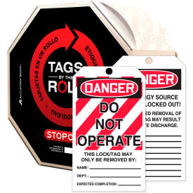 accuform tar125 danger do not operate tag, pf-cardstock, 250/roll Accuform TAR125 Danger Do Not Operate Tag, PF-Cardstock, 250/Roll