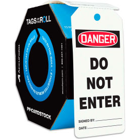 accuform tar140 danger do not enter, pf-cardstock, 250/roll Accuform TAR140 Danger Do Not Enter, PF-Cardstock, 250/Roll