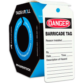 accuform tar158 danger barricade, pf-cardstock, 250/roll Accuform TAR158 Danger Barricade, PF-Cardstock, 250/Roll