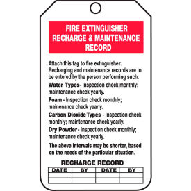 accuform trs211ctp fire extinguisher recharge & record tag, pf-cardstock, 25/pack Accuform TRS211CTP Fire Extinguisher Recharge & Record Tag, PF-Cardstock, 25/Pack