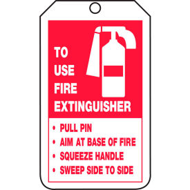 accuform trs218ptp extingusiher tag, to use fire extinguisher tag, pf-cardstock, 25/pack Accuform TRS218PTP Extingusiher Tag, To Use Fire Extinguisher Tag, PF-Cardstock, 25/Pack